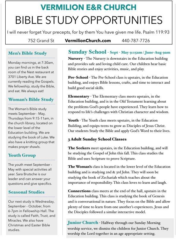 Vermilion Evangelical & Reformed Church - Home